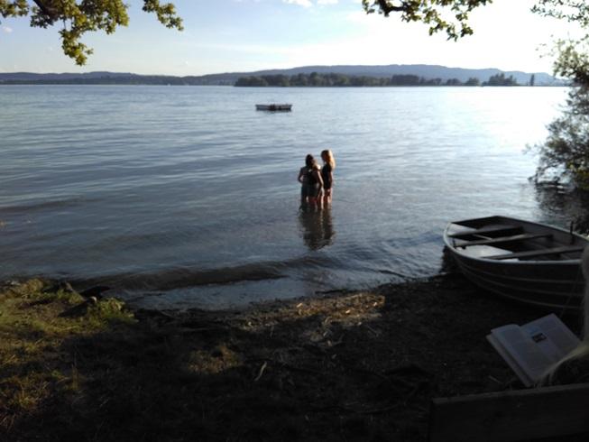 Blick vom Camp auf See