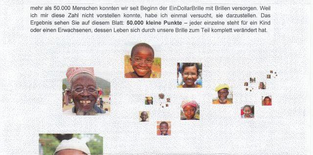 Spende an die Organisation EinDollarBrille e.V.