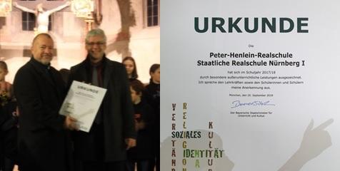 Besondere Auszeichnung für die PHR
